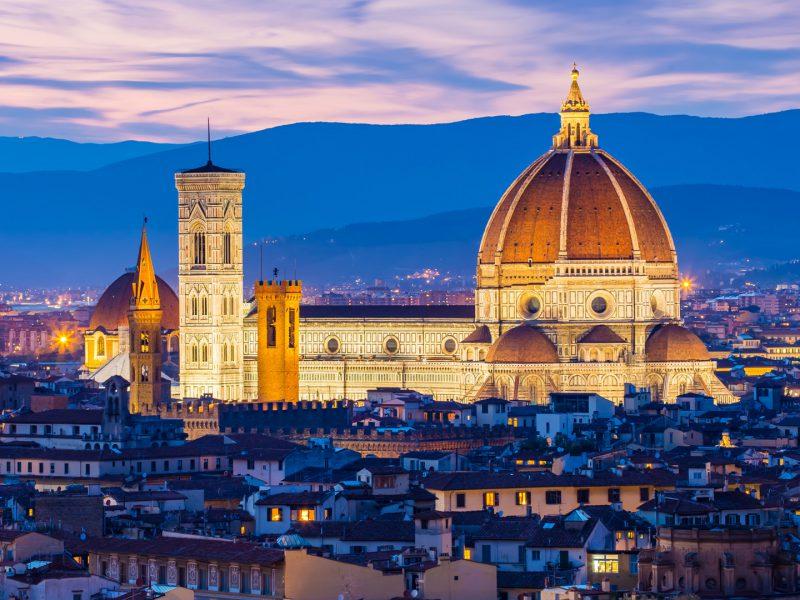 Twilight Florence Tuscany